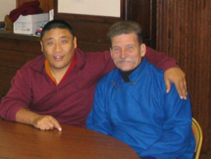 Tim Nelson pictured with Gankar Rinpoche in 2004.